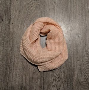 Accessories - Metallic Pink/Peach Knitted Infinity Scarf